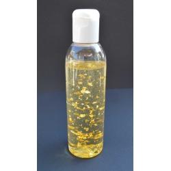 Goldöl, 200 ml mit fraktioniertem Kokosöl in der Kunststoffflasche