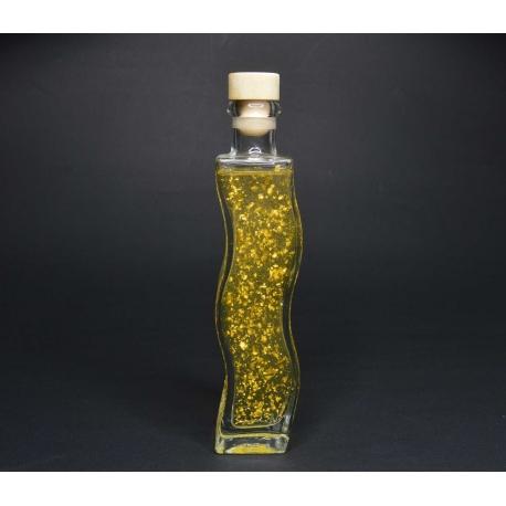 Kokosöl, 200 ml mit Aprikosenkernöl in der Glasflasche Welle